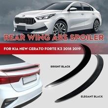 Wing-Guard Trunk-Spoiler-Lip Forte Kia Cerato Rear Sports Car Black ABS GT Bright Matte
