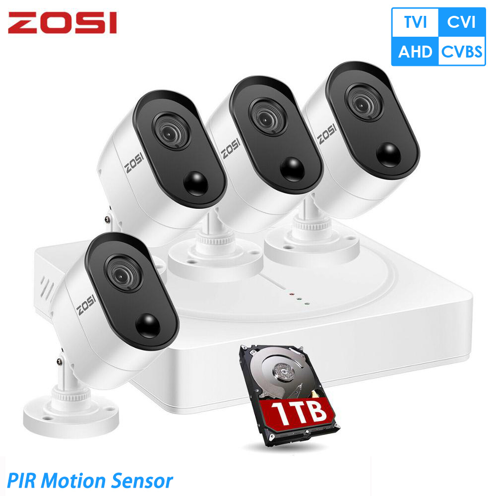 8 CAM 8CH HD-TVI 1080N DVR Recorder Outdoor Security Camera System
