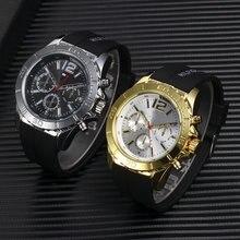Famous Brand Super Big Dial Sport Fashion Men Watch Rubber Band Quartz Wristwatch Clock Male Relogio Masculino Relojes Hombre