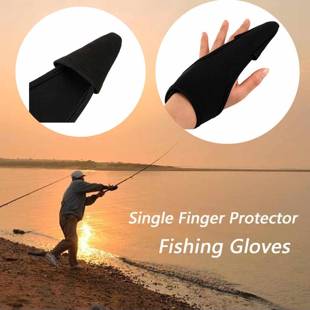 1Pcs di Usura-resistan Slittamento di Un Dito Guanti da pesca Dita Protettore Sport Traspirante Guanti di Pesce Accessori Per la Pesca con esche artificiali guanti