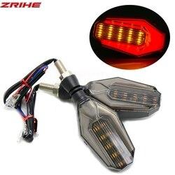 Uniwersalne akcesoria motocyklowe LED elastyczny wskaźnik sygnału zwrotnego bursztynowe światło do bmw F800GS ADV F700GS R1200RS S1000RR