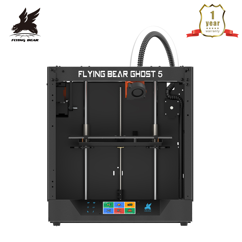 2020 Popular Flyingbear-Ghost 5 3d Printer full metal <font><b>frame</b></font> diy kit with Color Touchscreen gift SD Shipping from Russia image