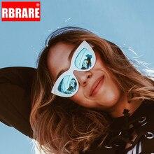 RBRARE Retro Thick Frame Cat Eye Sunglasses Women Ladies Classic Luxury Brand Mirror Lens Cateye Sun Glasses For Female