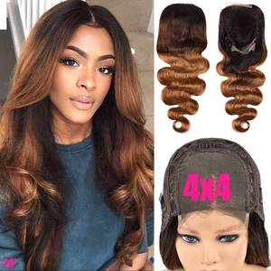 4x4 парик на застежке, Омбре, волнистый парик, кружевные передние человеческие волосы, парики 150, Remy, бразильский парик, 13х4, кружевной передний...