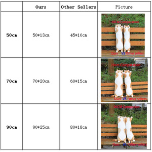 Image 5 - 플러시 장난감 동물 고양이 귀여운 크리 에이 티브 긴 부드러운 장난감 사무실 점심 휴식 낮잠 베개 쿠션 어린이를위한 박제 선물 인형