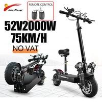 Patinete eléctrico plegable para adultos, Scooter todoterreno de 2600W, velocidad máxima de 52V20A, 75 KM/H, 10 pulgadas, sin impuestos