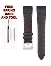 212ZTD Black Leather Watch Strap Compatible With Seiko Sportura SNAE65P1 21mm SKO111