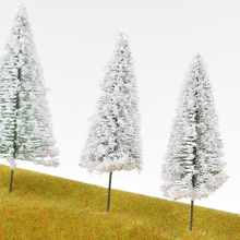цена на 20 PC  building sand table model material white wire tower white pine needle tree N than the train model tree model train model