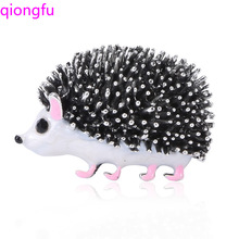Qiongfu Mini Brooch Animal Cool Hog Clothing Pin Enamel Ornament