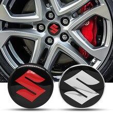 4 pçs carro 56mm adesivo roda centro hub tampas decalques para suzuki grand vitara 2008 gsxr 600 750 srad swift jimny alto acessórios