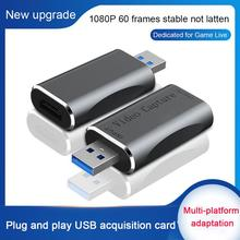 4K Video Capture Card HDMI-Compatible to USB 3.0 1080P HD Output Video Capture Box for Live Streaming Gaming Conference