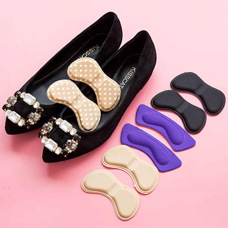 1Pair Sticky Fabric Shoes Back Heel Inserts Insoles Pads Cushion Liner Grips High Quality Braces & Supports