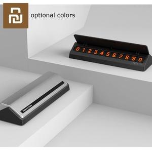 Image 5 - Bcase TITA çevirme tipi araba geçici park kartı telefon numarası kart plaka Mini araba dekorasyon için Mi yaşam