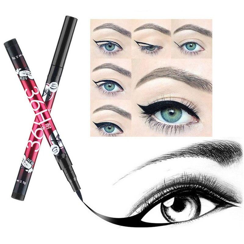 1PC Black 36H Waterproof Eyeliner Pencil Sweat-proof Long-lasting Liquid Eye Liner Pen Pencil Make Up Tool