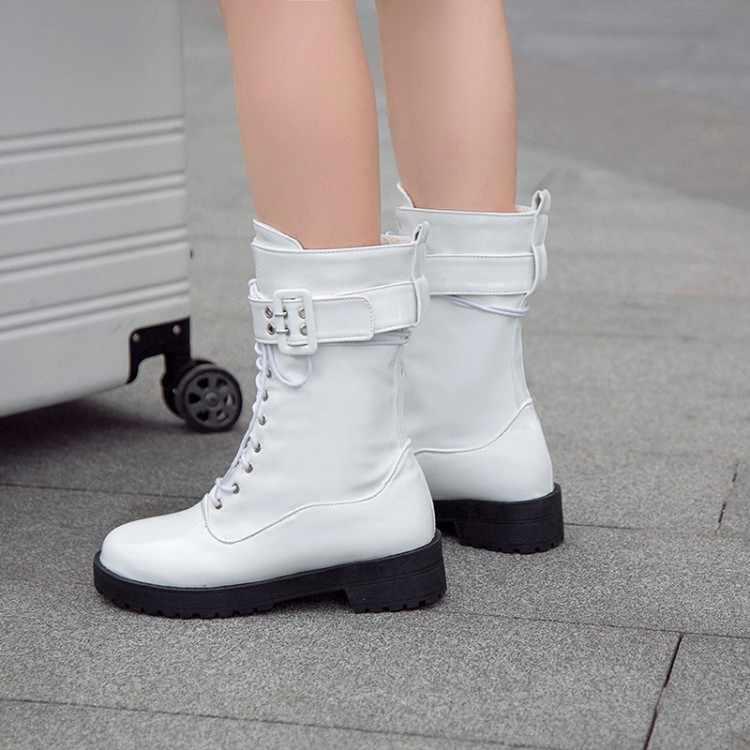 Big Size Laarzen Vrouwen Schoenen Enkellaarsjes Voor Vrouwen Dames Laarzen Schoenen Vrouw Winter Ronde Kop Waterdicht Tafel