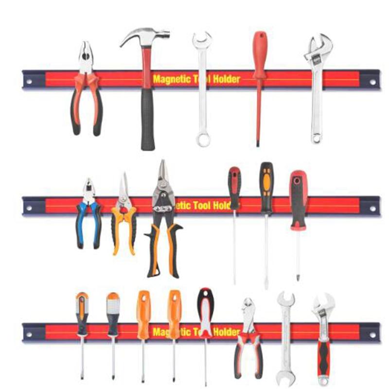 """8"""" 12"""" 18"""" 24"""" Magnetic Tool Holder Rack Strong Metal Magnet Storage Tool Organizer Bar For Garage Workshop"""