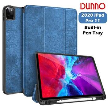 цена на New iPad Pro 2020 Case For 2018 iPad Pro 11 Case With Pencil Holder Cover 2020 iPad Pro 11 2nd Gen Auto Sleep/Wake Smart Case