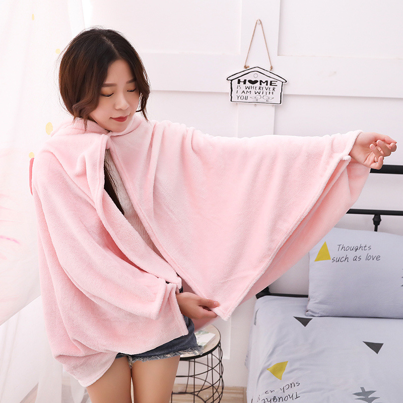 Unicorn Fleece Blanket Hooded Blanket Bed Sofa TV Throw Blankets Cartoon Hoodie Blanket Sweatshirt Christmas Gift for Children 15