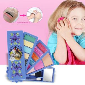Disney księżniczka mrożona Elsa i Anna dzieci profesjonalne kosmetyki modna piękna udawaj zagraj w dziewczynek gra dzieci makijaż zabawka