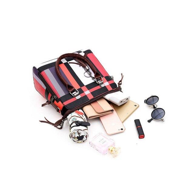 ValenKuci Designer handbags high quality Luxury Handbags Composite Bag Set Brand Plaid Tassel Women Bags Handbags Composite Bag