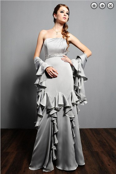 Ruffles Crystal Belt Vestido De Festa Renda 2018 New Fashion Sexy Party Gown Formal Evening Gown Mother Of The Bride Dresses