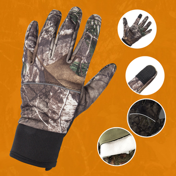 Camouflage Fishing Gloves Hunting Gloves Anti-Slip 2 Fingers Cut Outdoor Camping Cycling Half Finger Sport Gloves Camo 3