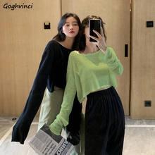 T-shirt à manches longues pour femmes, résistant au soleil, résistant au soleil, de Style coréen, ample, facile à assortir pour adolescents Chic Ins femmes, tendance, Ulzzang, nouveau