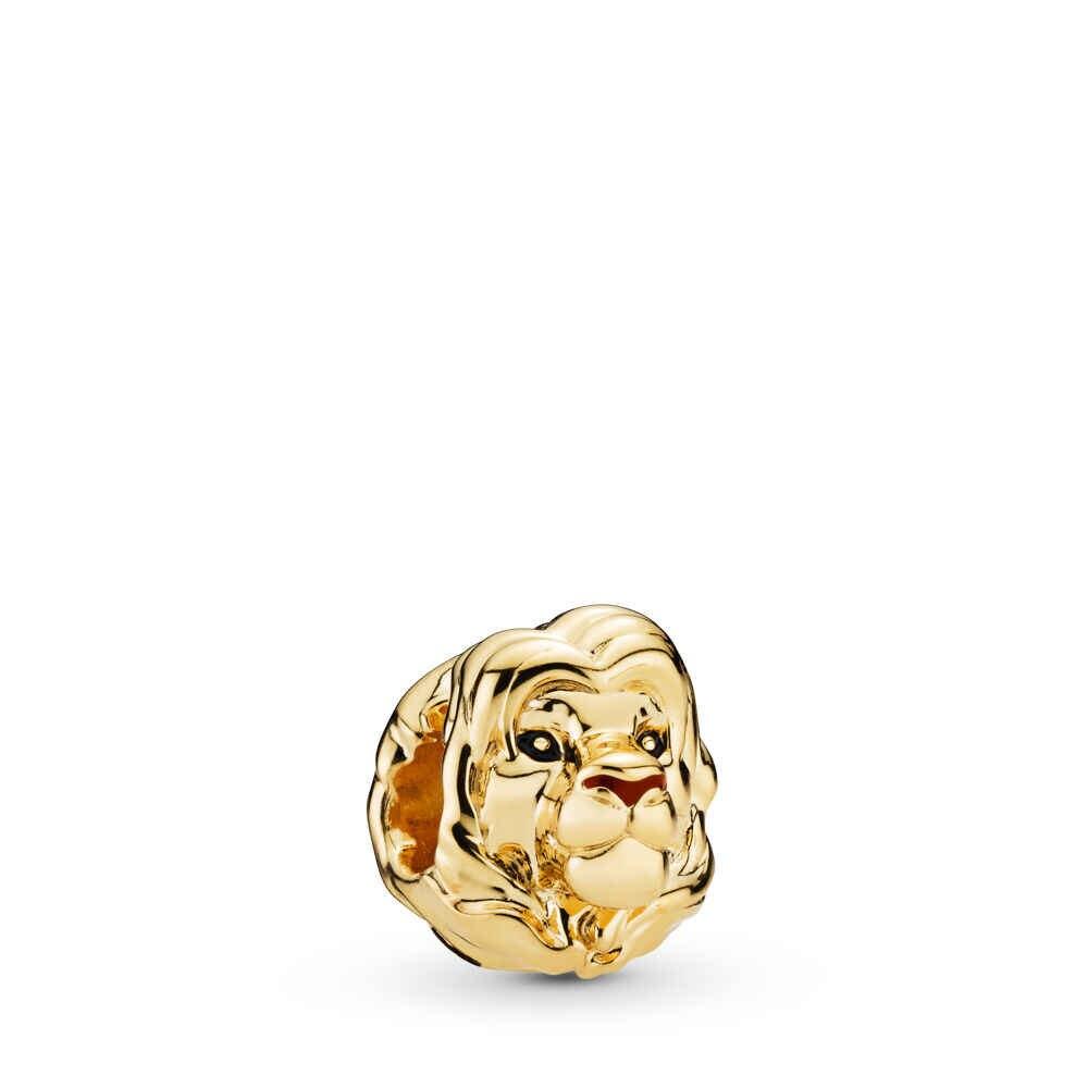 2019 新 1pc ゴールドシンバと MUFASA 日没ライオンキング母息子 diy ビーズフィットパンドラチャームブレスレット女性のためのジュエリー F303