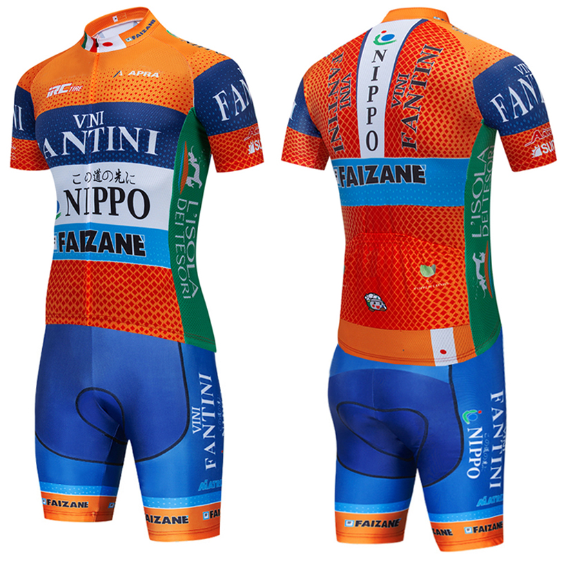 TEAM VINI FANTINI ORANGE cycling Jersey 20D pad BIKE Short set MTB Bicycle Clothing Ropa Ciclismo bicycling Maillot Wear image