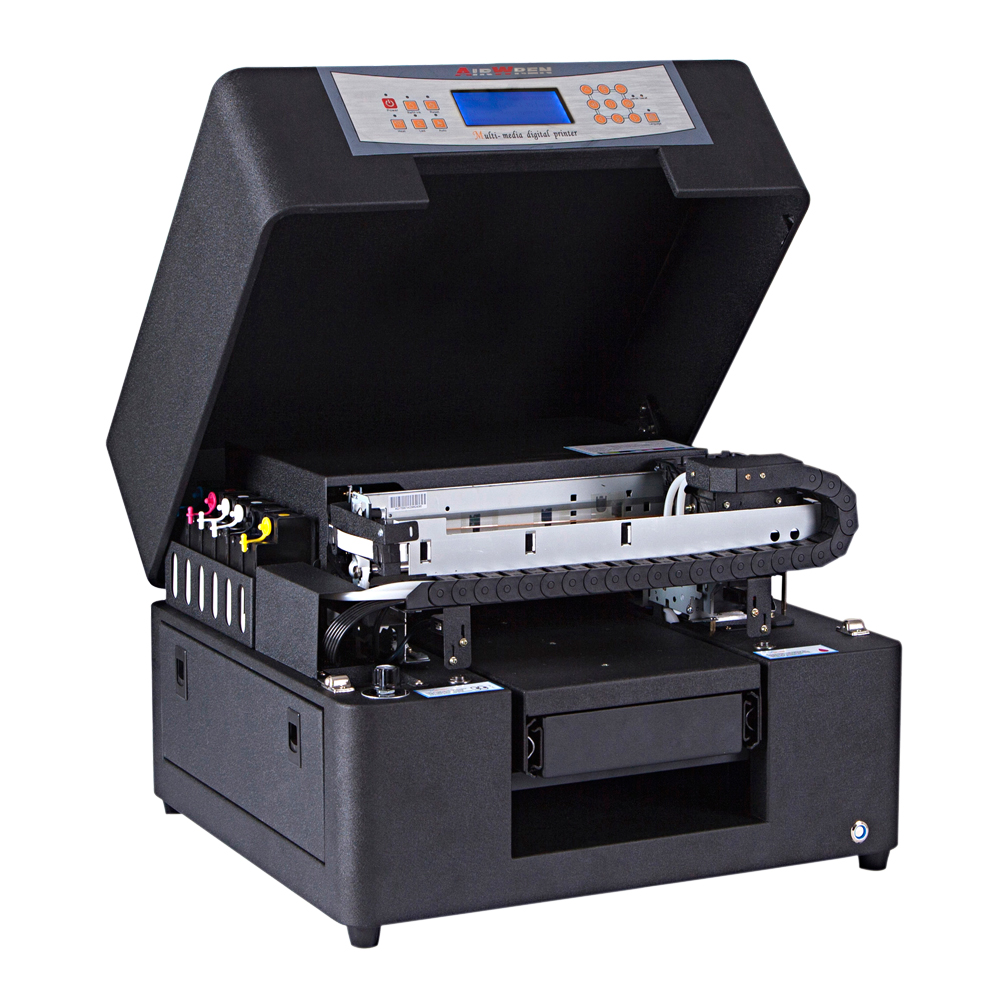 High Quality Durable Flatbed UV Led Printer For Phone Case A4 Printing Machine