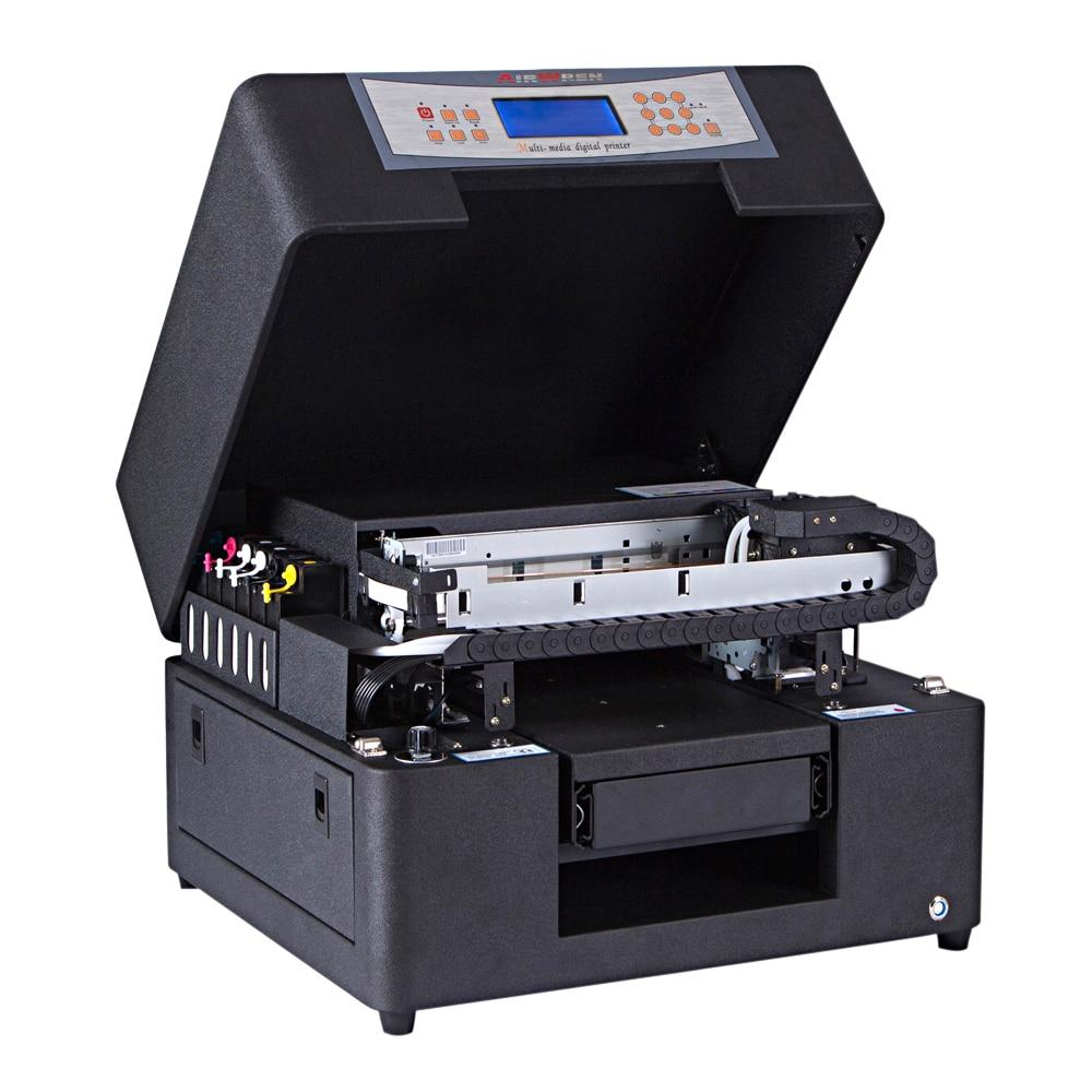 Manufacturer High Resolution A4 Digital 6 Color Inkjet Flatbed Uv Digital Dog Tags Printer On Stainless Steel