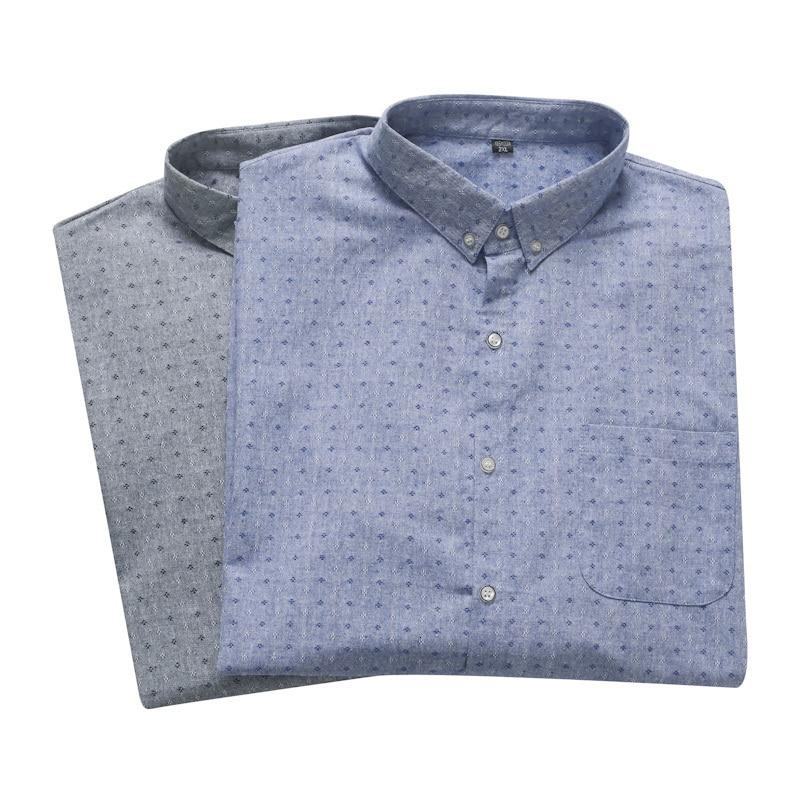 Plus Size 8XL 7XL 6XL 5XL Men Dress Shirt  Spring And  Autumn Arrival Button Down Collar Long Sleeve Mens Cotton Business Shirts