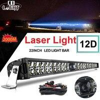 Lumière de CO 12D 22 pouces Led lumière Laser projecteur Combo faisceau barre de lumière Led Offroad 2000M 4x4 lumière de travail pour ATV SUV camions 12V 24V