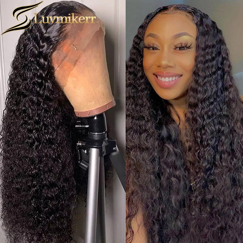 Water Wave 360 Lace Frontal Wigs Full Pre plucked Natural Curly Brazilian Hair Lace Front Wigs For Black Women Lace Closure Wigs