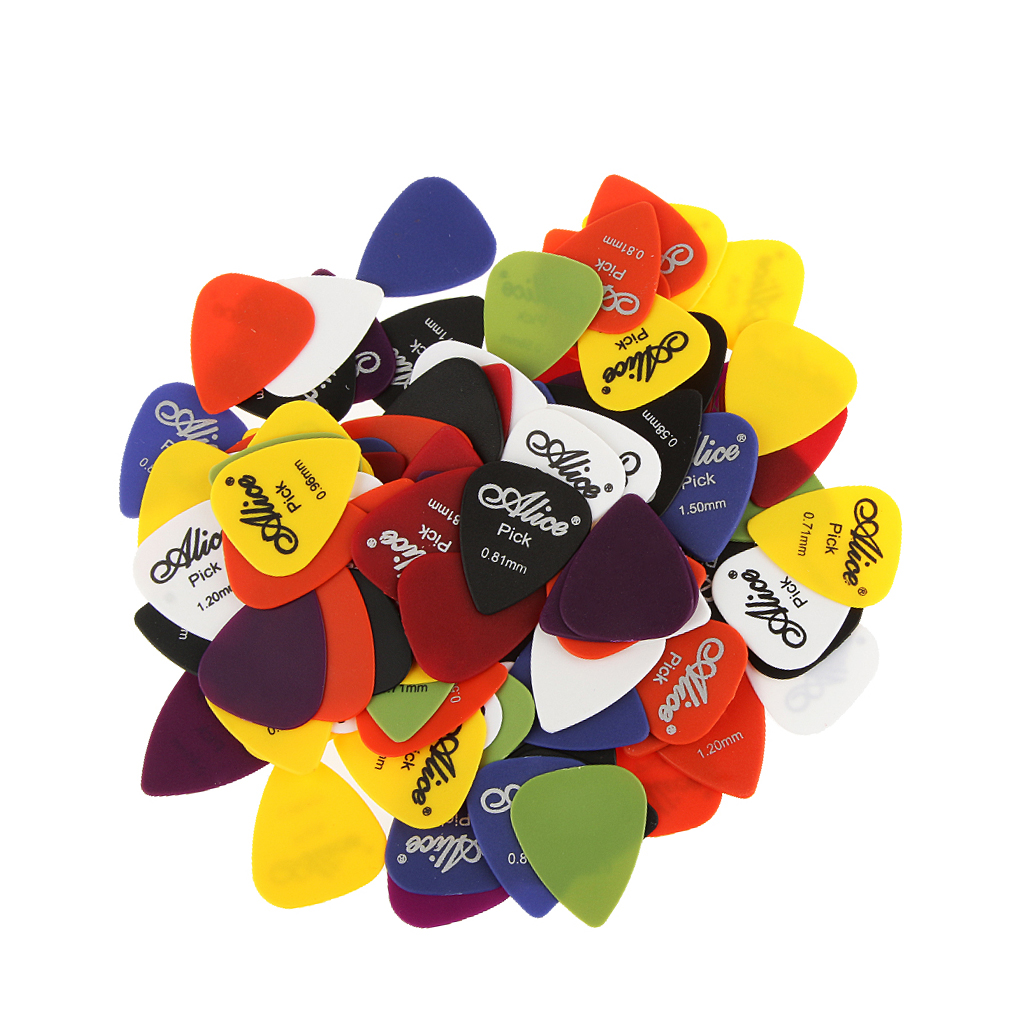 100 X High Quality Guitar Plectrum Guitar Pick Picks For Guitar, Perfect For Guitar Bass Mandolin Banjo image