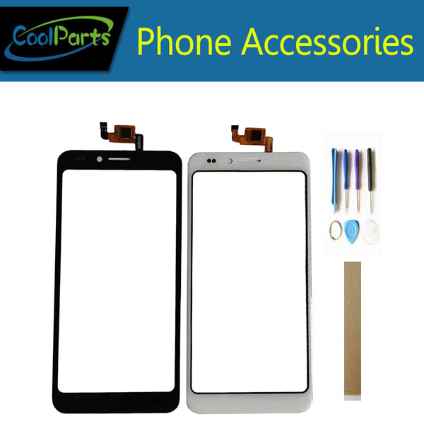 5.0 Inch For Senseit A150 Touch Screen Digitizer Touch Panel Lens Glass Replacement Part Black White Color With Tools Tape