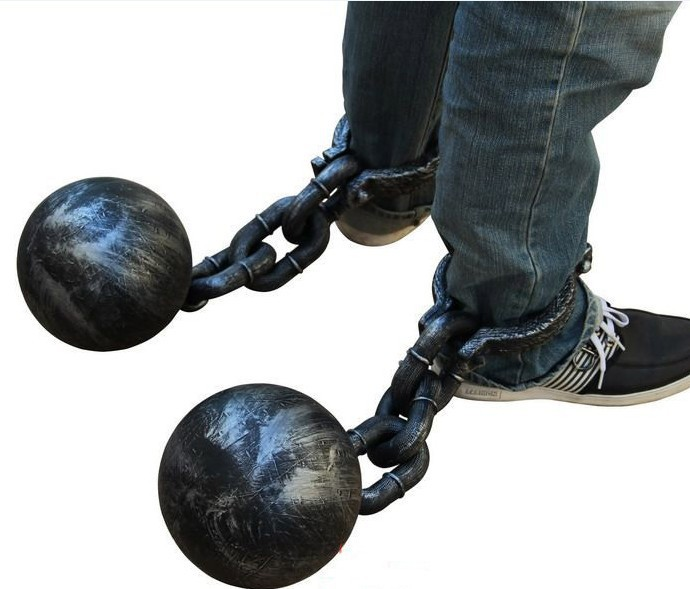 Halloween Prisoners COS Performance Props Footcuff Leg Lock Anklet Hand Chains Anklet Plastic Ball Props