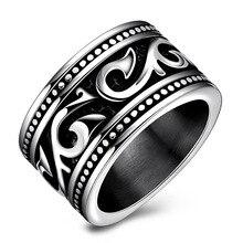 Size 6-7- 9 Punk Classic Cocktail Ring For Men Titanium Steel Luxury Mens Fashion Accessories
