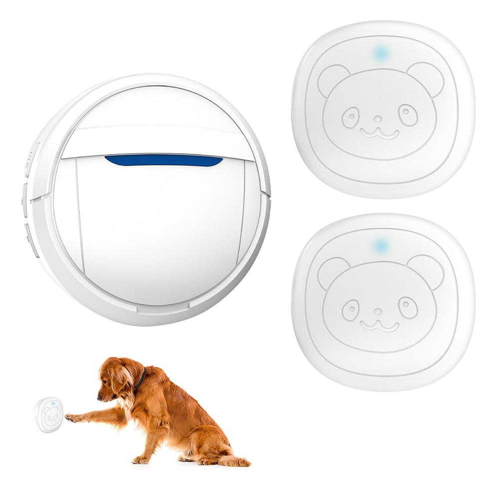 Pet Dog Doorbells Wireless Door Bell House-training Multifunction Sensor Motion (Receiver & Transmitters) Training Tool-0