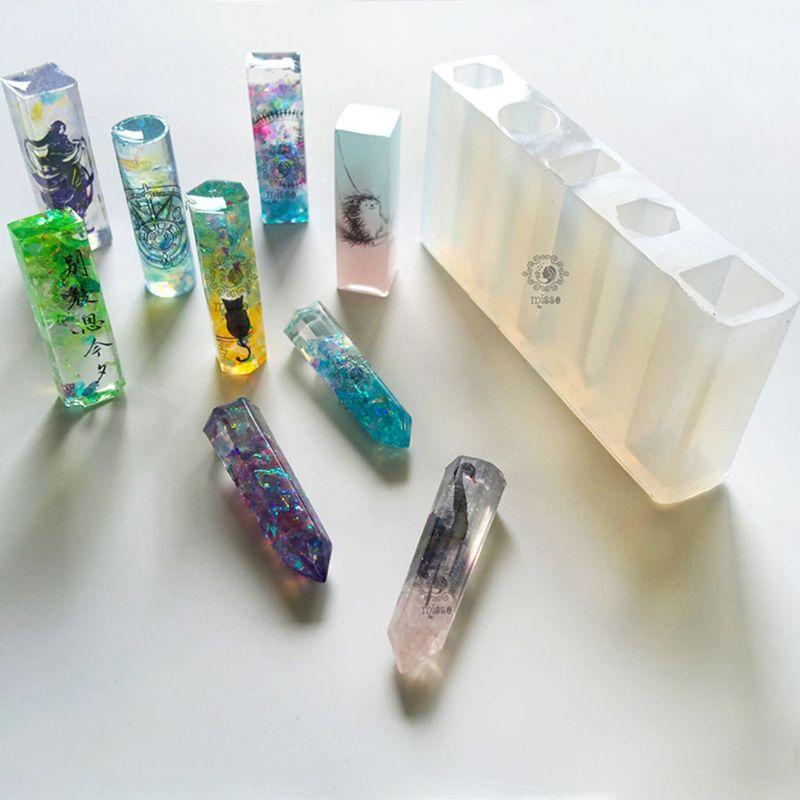 UV Epoxy Mold DIY Pendant Jewelry Crystal Silicone Molds Hexagonal Round Geometric Shape Craft Making Mould