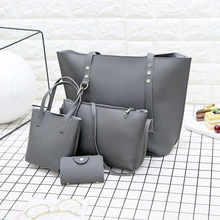 New Style-Korean-style Retro Different Size Bags Womens Hand Shoulder Versatile 3pcs Set Bag WOMENS