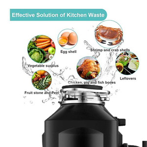 Image 5 - 750W Food Garbage Disposal Crusher waste disposers Stainless steel Grinder kitchen appliances Germany technology  kitchen