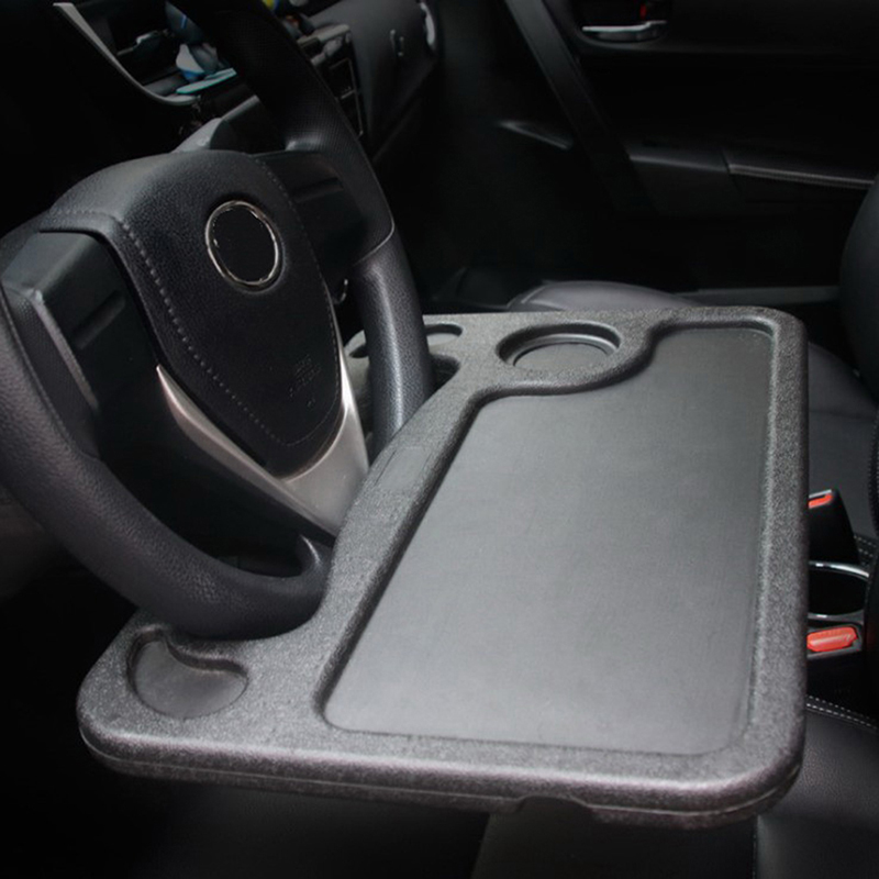 1pc Creative Car Steering Wheel Card Table Steering Desk Auto Car Laptop Stand In-car Office Table Board Storage Beverage Rack