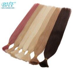 BHF Remy Human Vlechten Haar Bulk Straight India Haar 60cm Natuurlijke Gehaakte Vlechten Geen Inslag Haar Bulk