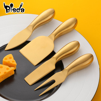 4 herramientas para queso, cortador y rebanador de queso dorado, ralladores creativos de queso, herramientas de cocina, espátula para pastel, Juego de cuchilla para queso de mantequilla