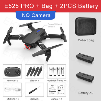 E525 PRO RC Quadcopter Profissional Obstacle Avoidance Drone Dual Camera 1080P 4K Fixed Height Mini Dron Helicopter Toy 12