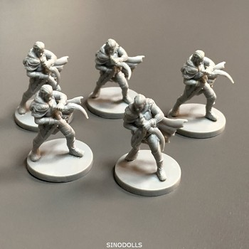Lot 5pcs Warriors Board Games Miniatures  Warsgame Role Playing Figures PVC Toys Collection new 4pcs heroes board games nolzur s marvelous miniatures warsgame role playing figures pvc toys collection