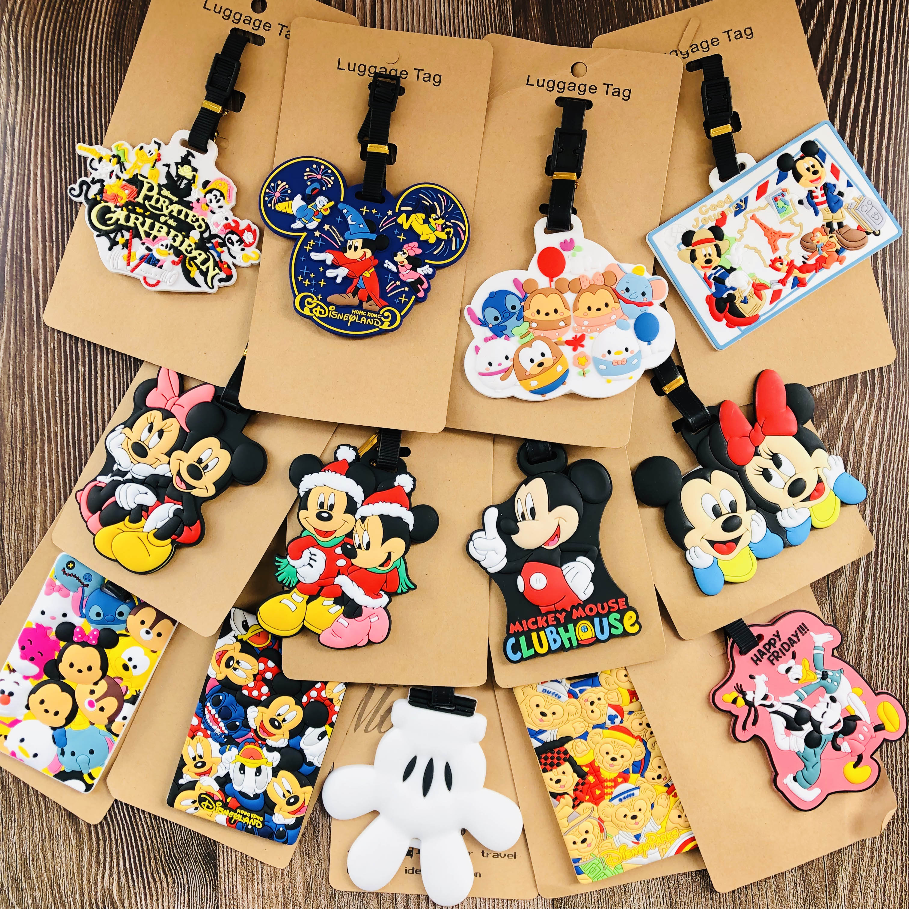 Mickey Minnie Style Anime Travel Accessories Luggage Tag Suitcase ID Portable Tags Holder Baggage Labels Gifts New