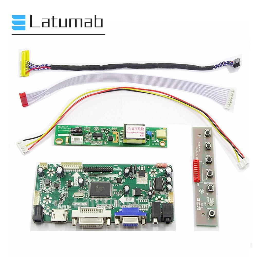 Latumab Board Kit For LP141WX3 TL N1 / LP141WX3 TL N2  / LP141WX3 TL N4 ( HDMI+DVI+VGA ) LCD Screen Controller Board