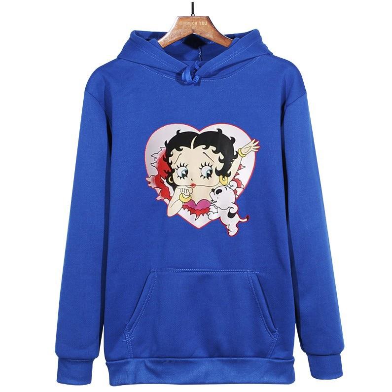 Plus Size sweatshirt Women Summer 2021 Spring Oversized Cute Print hoodie Cute Hip hop Kawaii Harajuku womens tops clothes 18